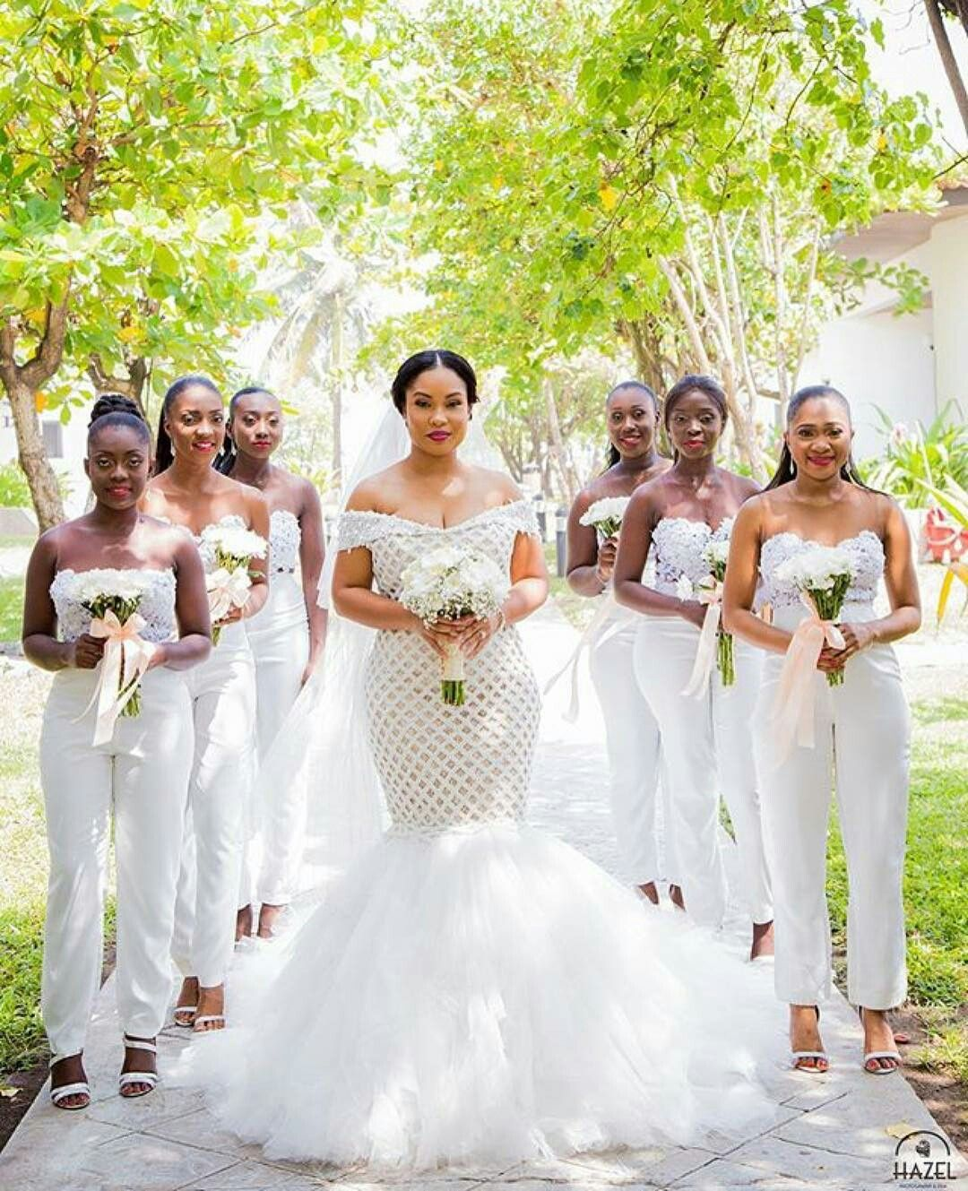 The hottest wedding trend 25 stylish bridesmaids jumpsuits 10 love her maids are in pants ombrellifo Gallery