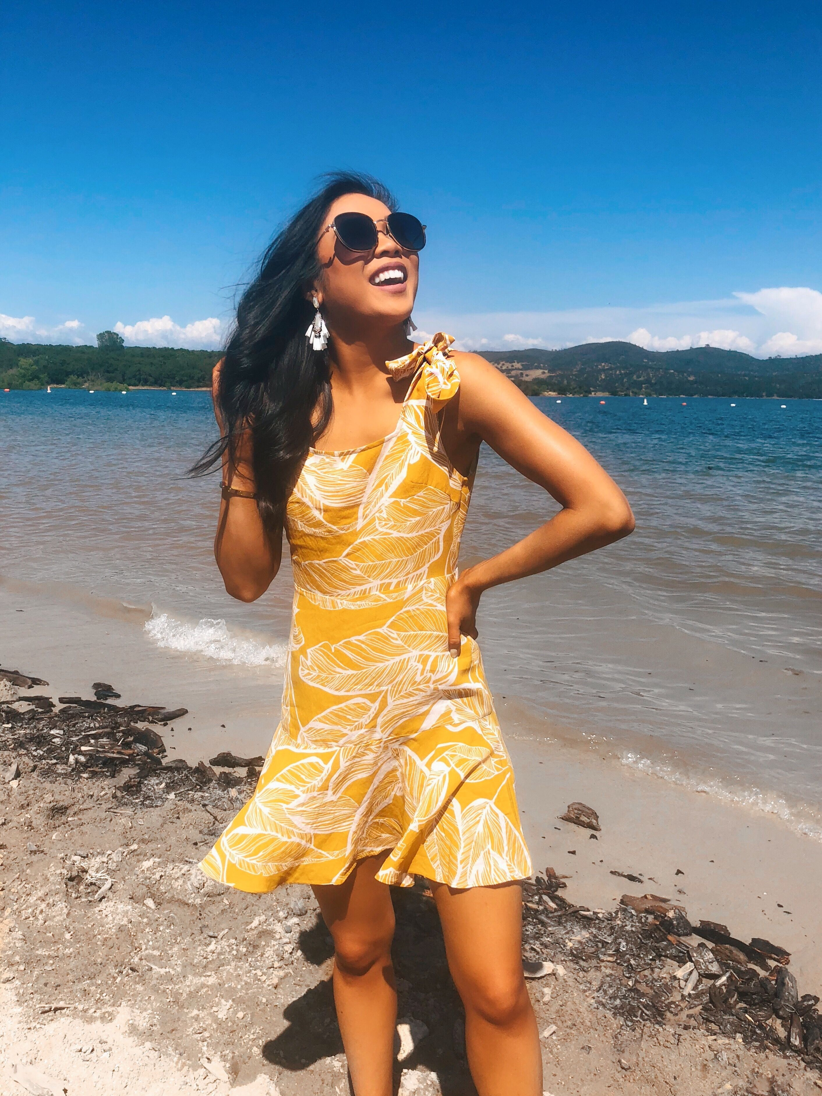 Quick Weekend San Francisco And Sacramento Travel Guide Color Chic Tropical Print Dress Tropical Dress Summer Outfits