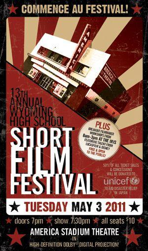 Film Festival Poster  CinemaFestival    School Shorts