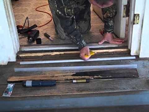 Door Threshold Repair | Door frames | Home improvement projects, Diy