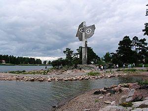 Picassoskulpturen på Strandudden - Kristinehamn