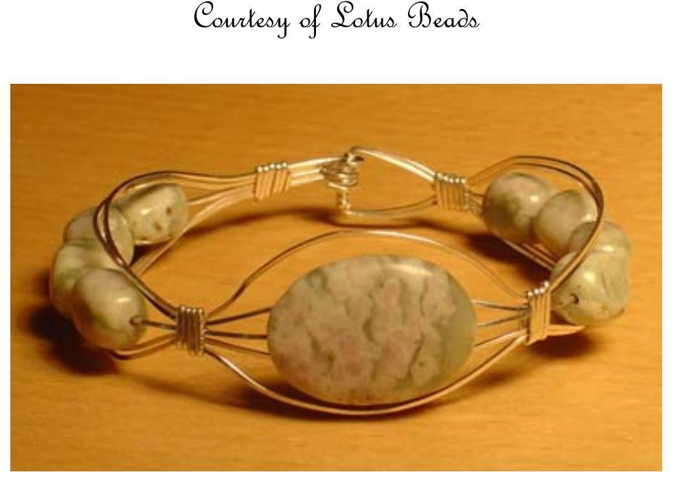 Wire bracelet - 7 page free PDF from Lotus Beads. #Wire #Jewelry ...