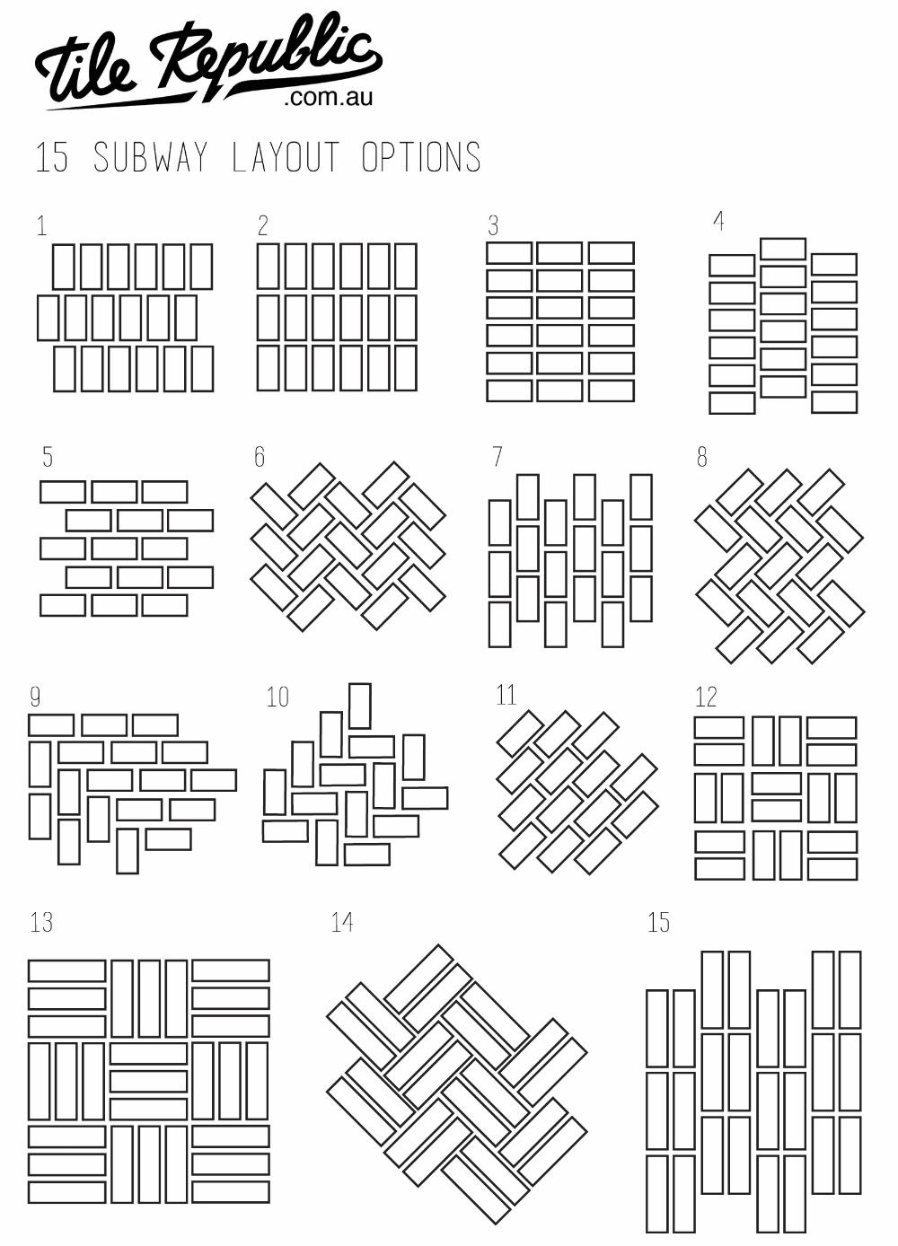 subway tile patterns