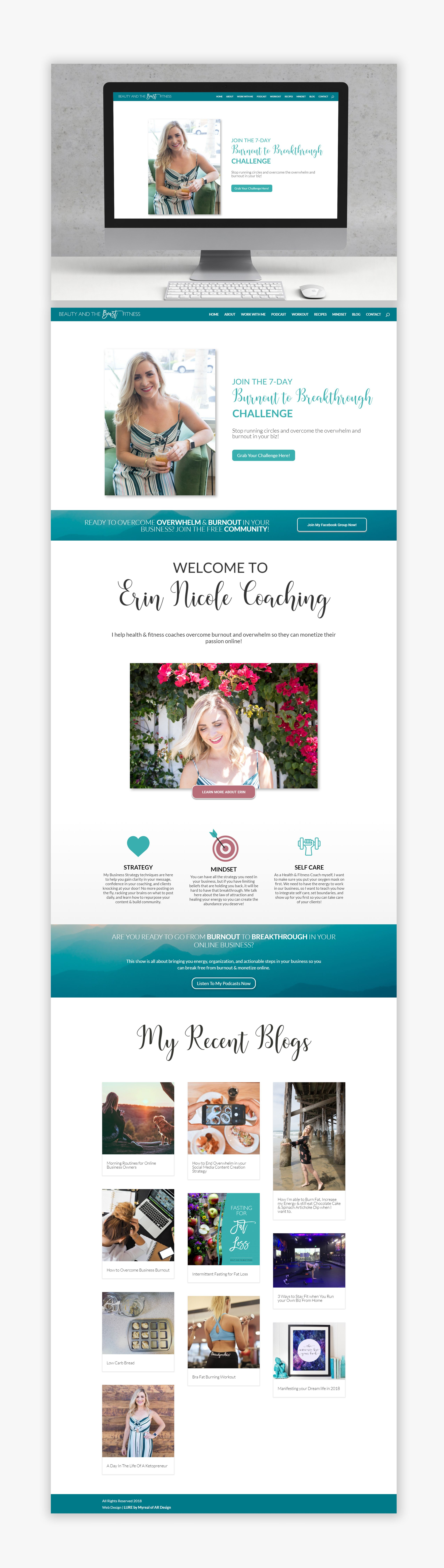 Beautiful Inexpensive Website Design Layout And Transformation For Small Business Owners Coaches An Website Design Layout Web Template Design Website Design