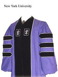 NYU PhD robe