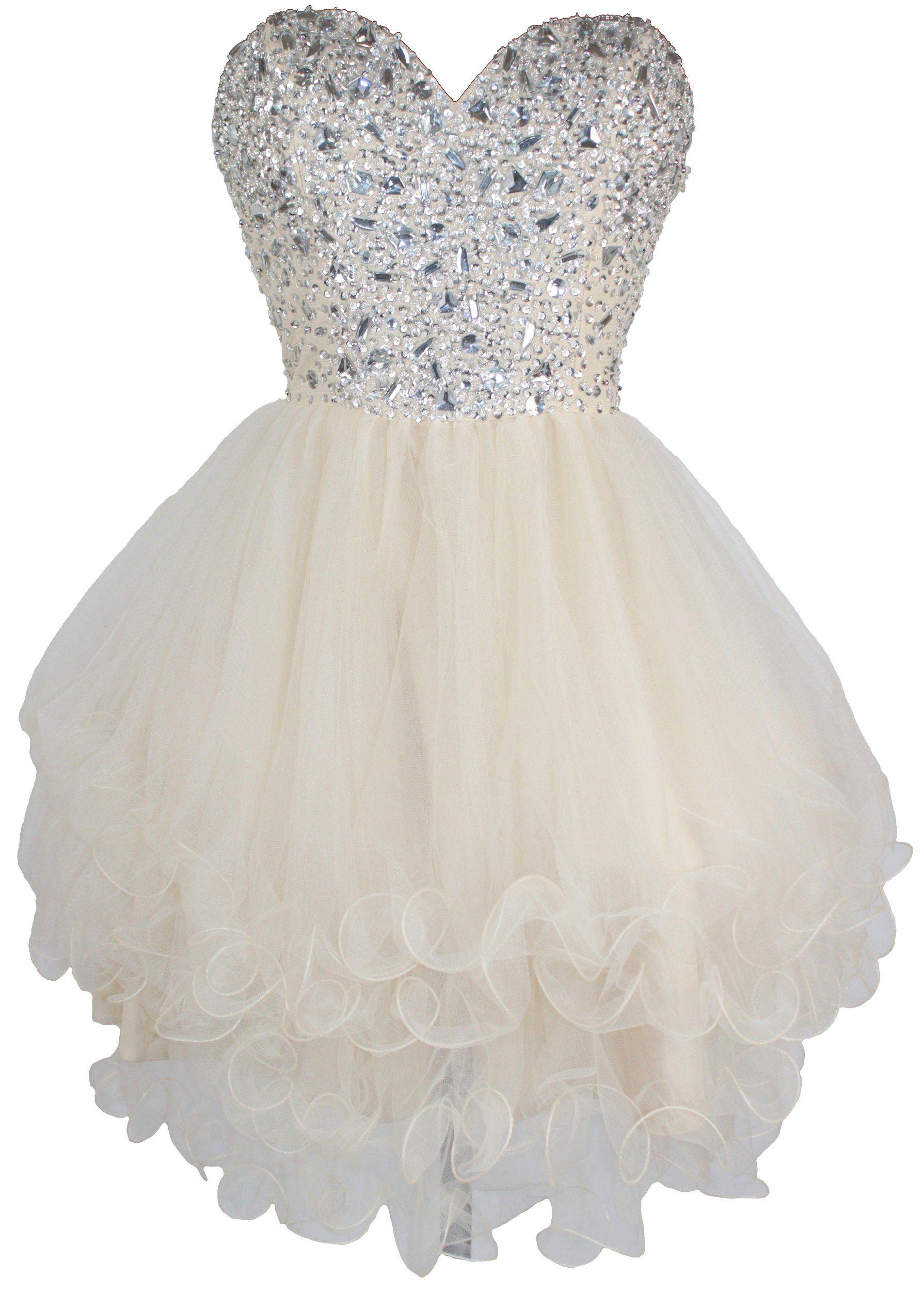 Meier womenus beaded short tulle homecoming sweet prom dress at