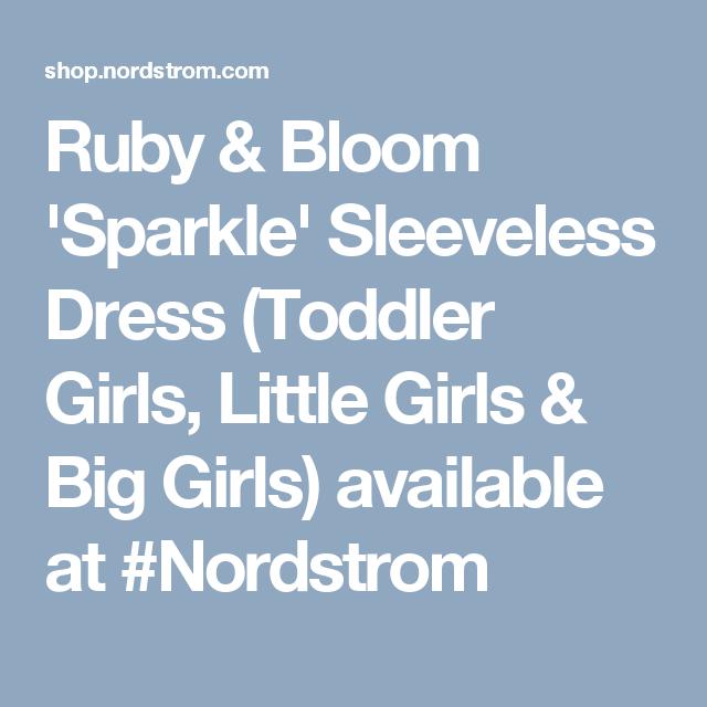 Ruby & Bloom 'Sparkle' Sleeveless Dress (Toddler Girls, Little Girls & Big Girls) available at #Nordstrom