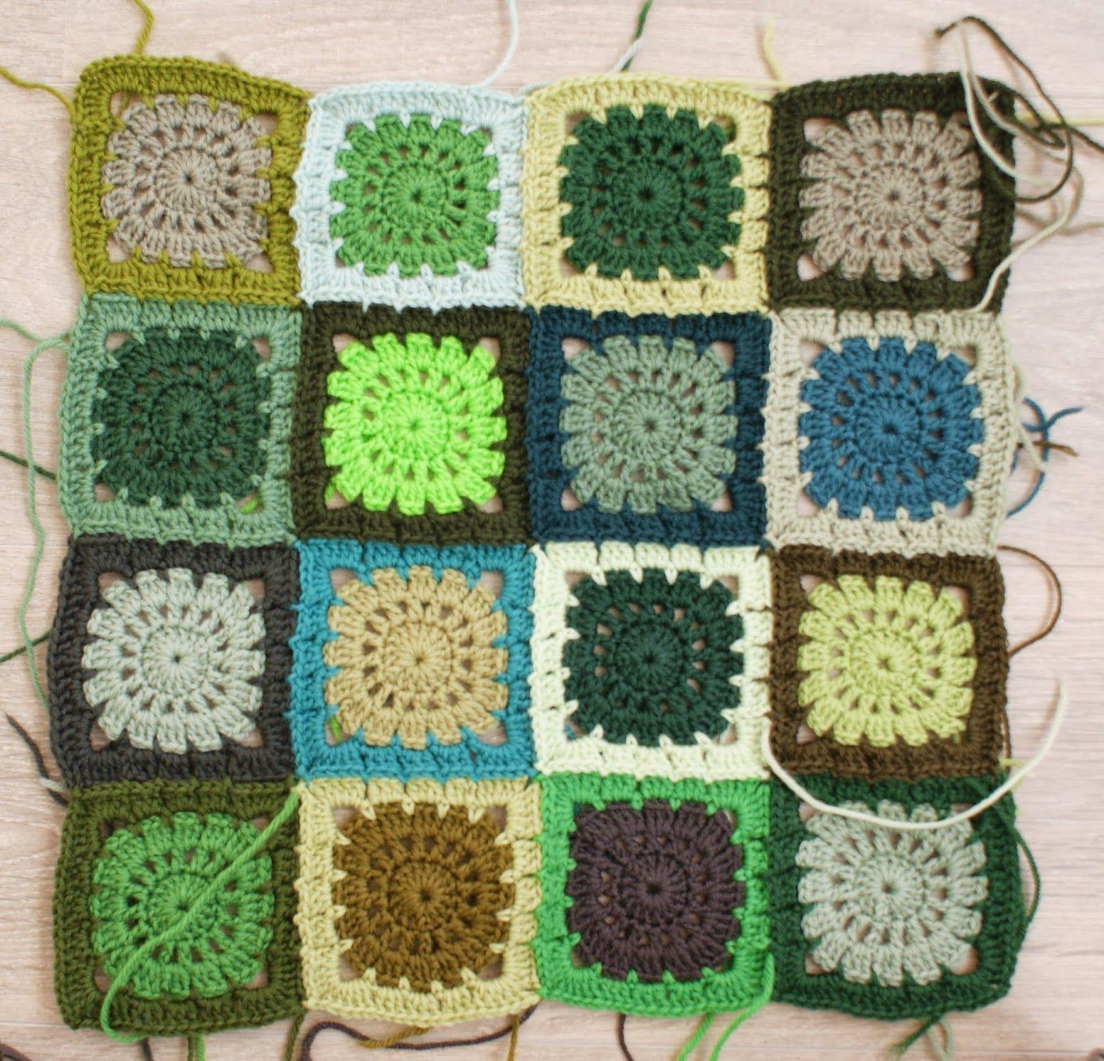 dutch sisters: Crochet Retro Block Pattern | Crochet afghans ...