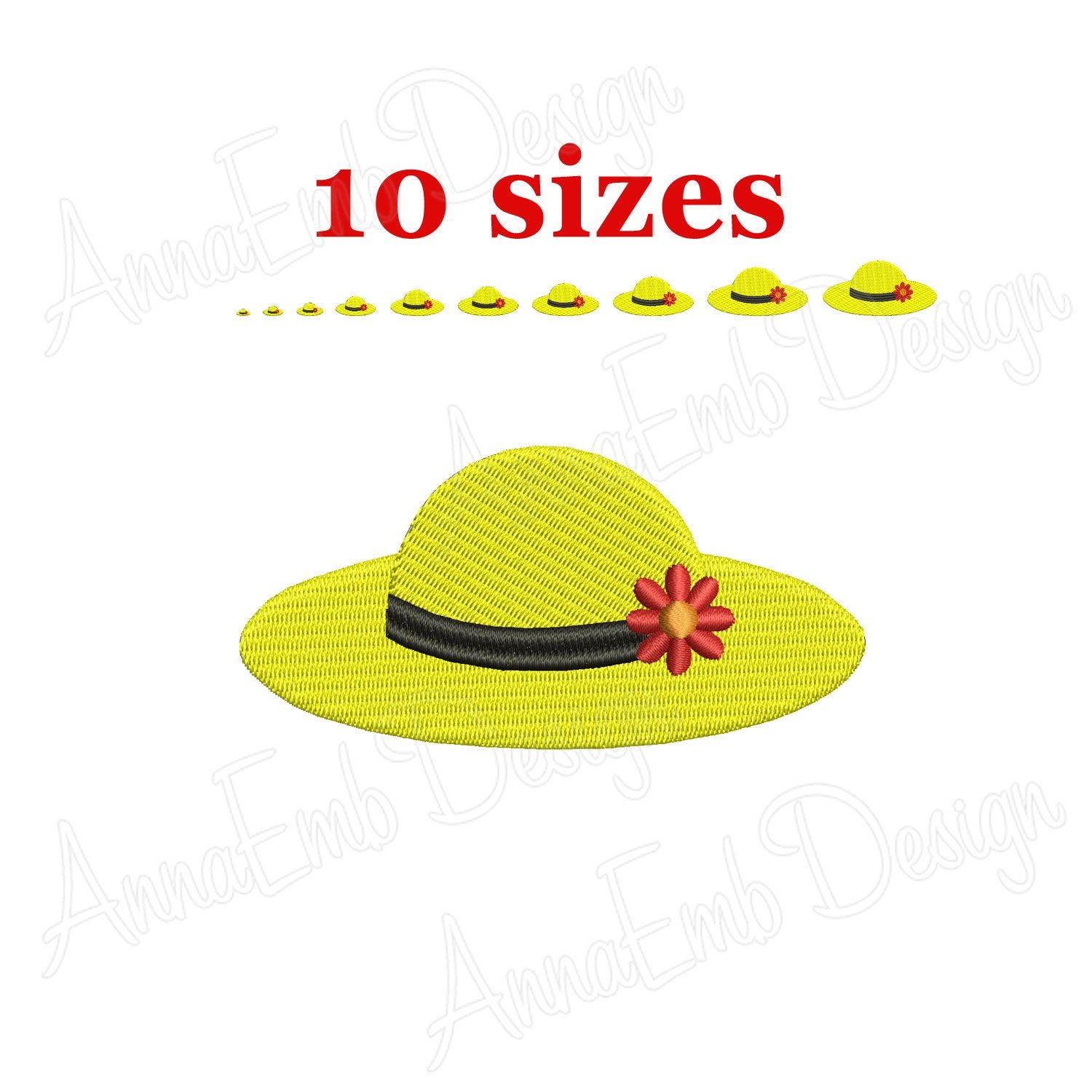 Womans Hat Embroidery Design Hat Silhouette Mini Hat Etsy Hat Embroidery Machine Embroidery Designs Hats For Women