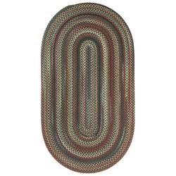 Best Phoebe Multi Beige Brown Blue Stair Tread Oval Rugs 400 x 300