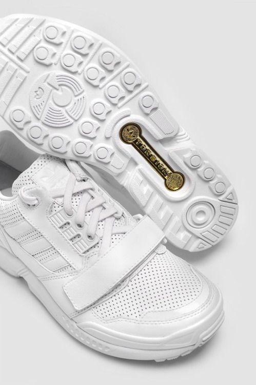 adidas x zx 8000 basso jj di pelle bianca, scarpe da ginnastica le scarpe
