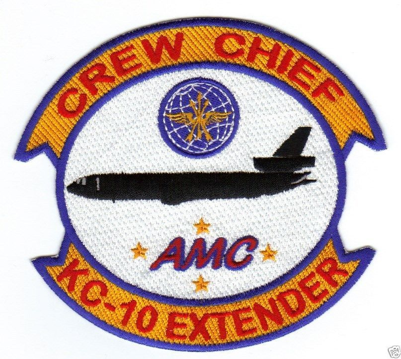 USAF KC 10 EXTENDER CREW CHIEF PATCH AIR MOBILITY COMMAND AMC Y