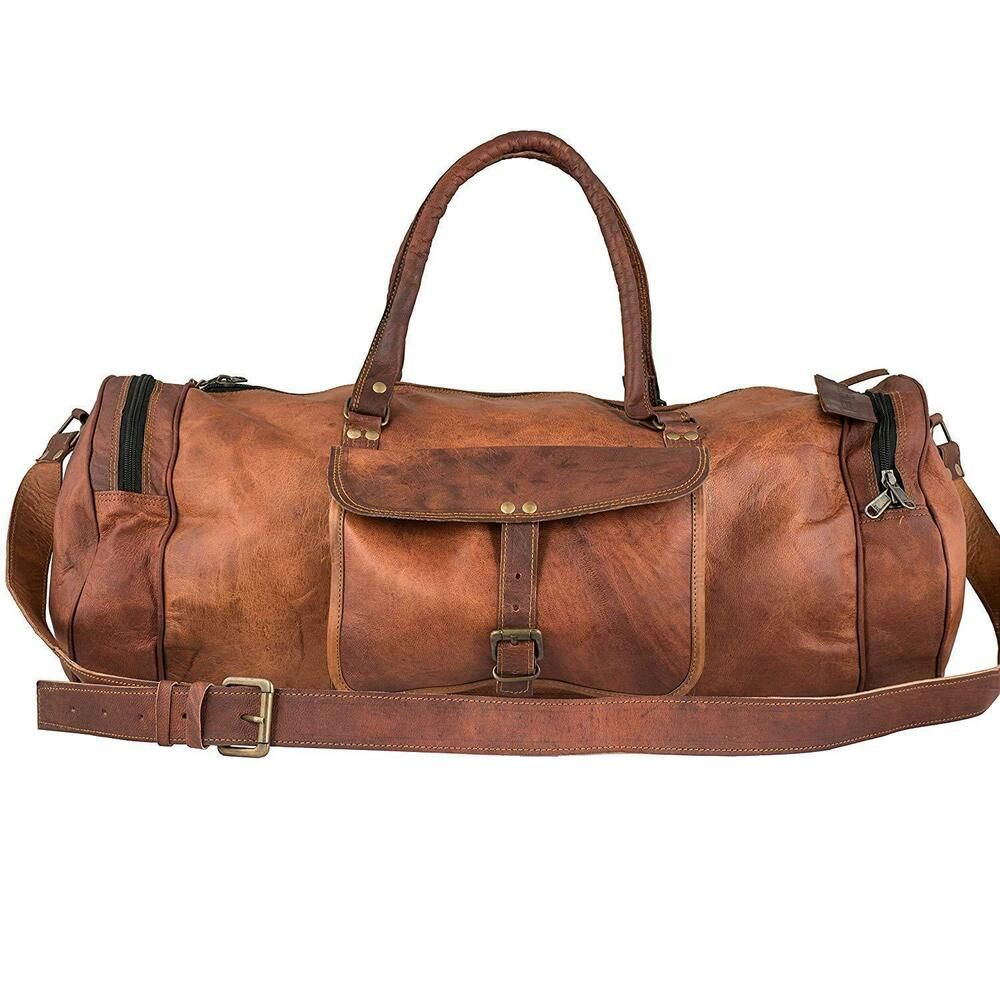 481e673273 Men s genuine Leather large vintage duffle travel gym weekend overnight bag   Handmade  DuffleGymBag