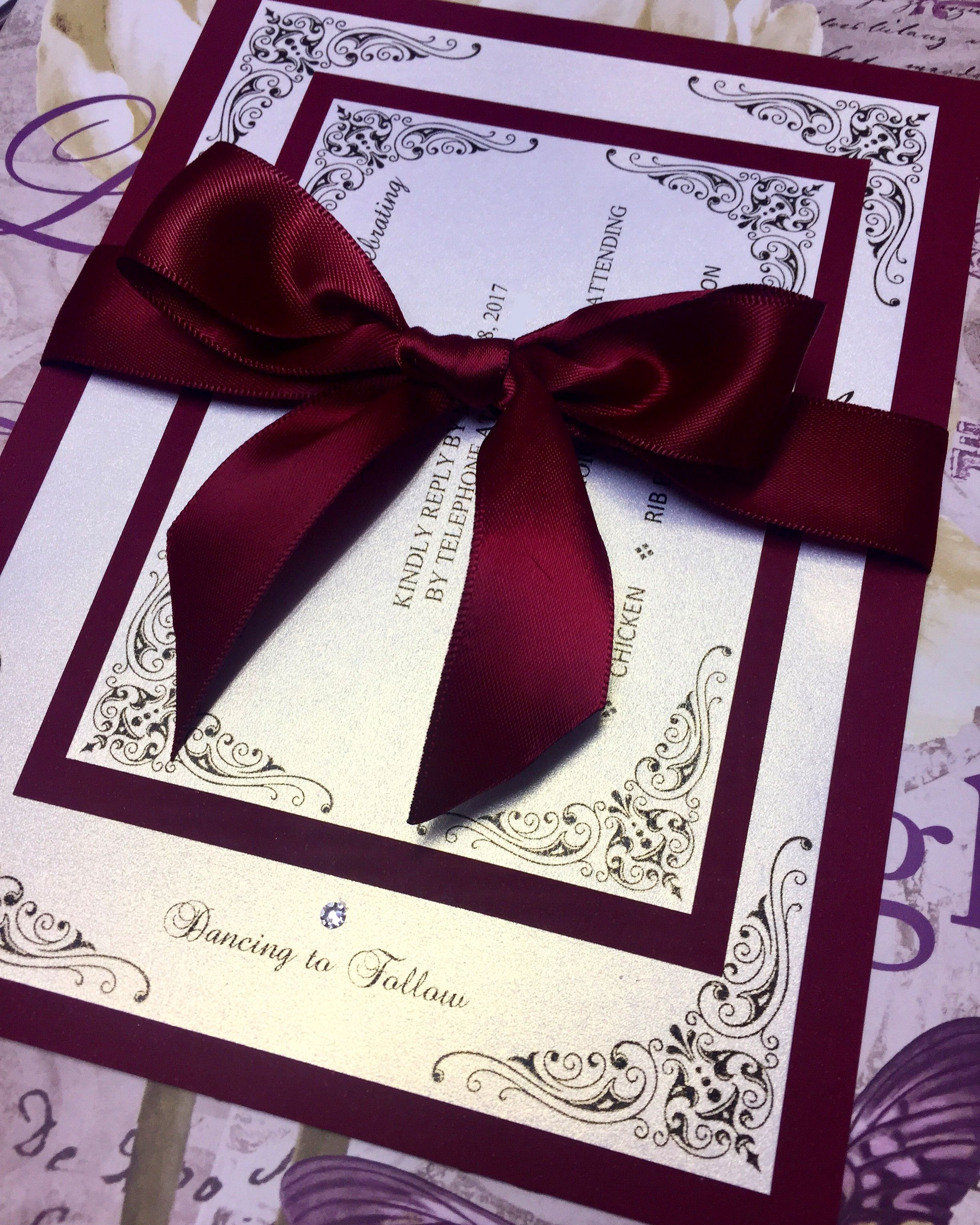 Wedding invitations made by Designs With Love