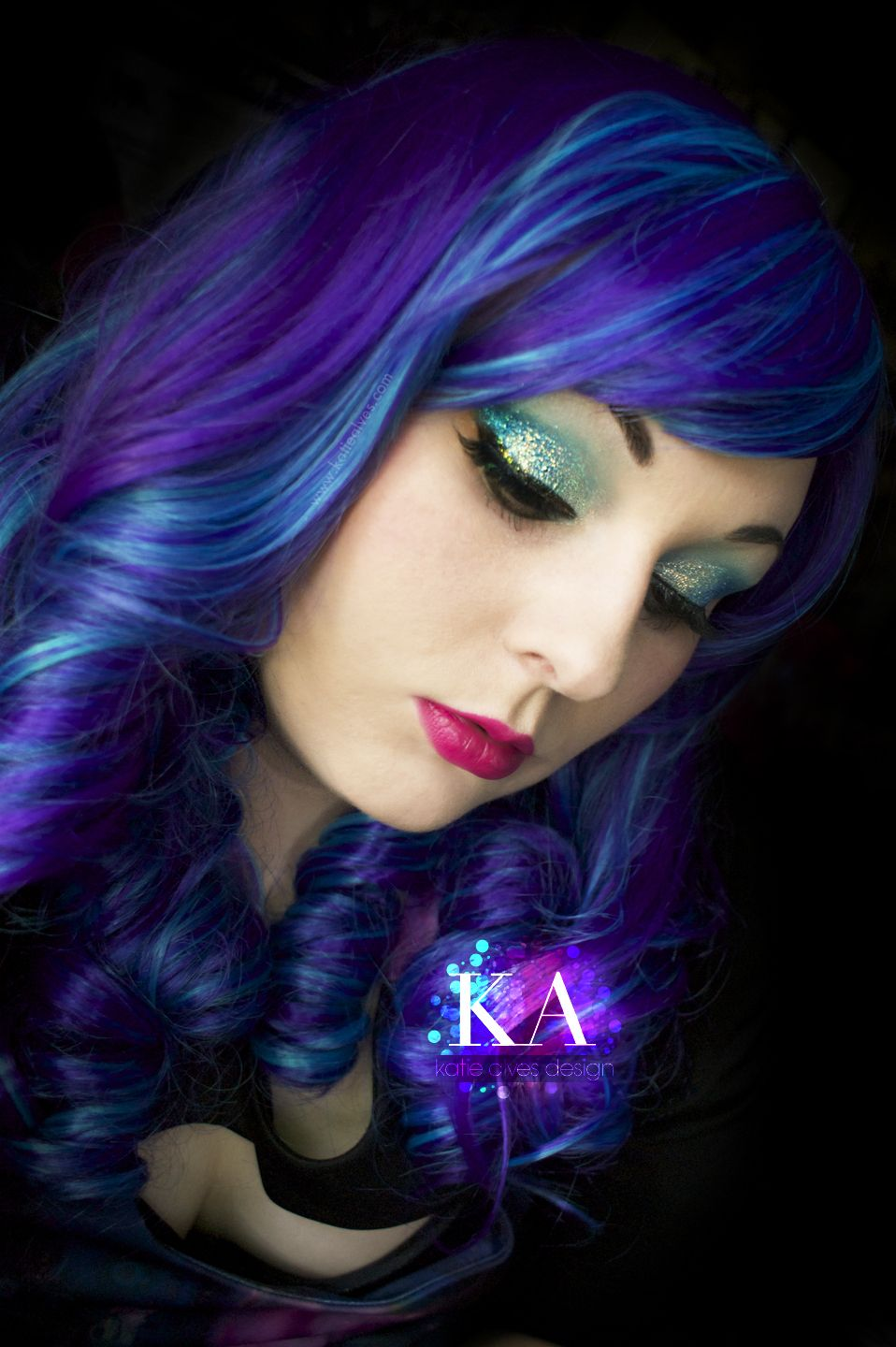 Katy Perry California Gurls Tutorial Fantasy hair color