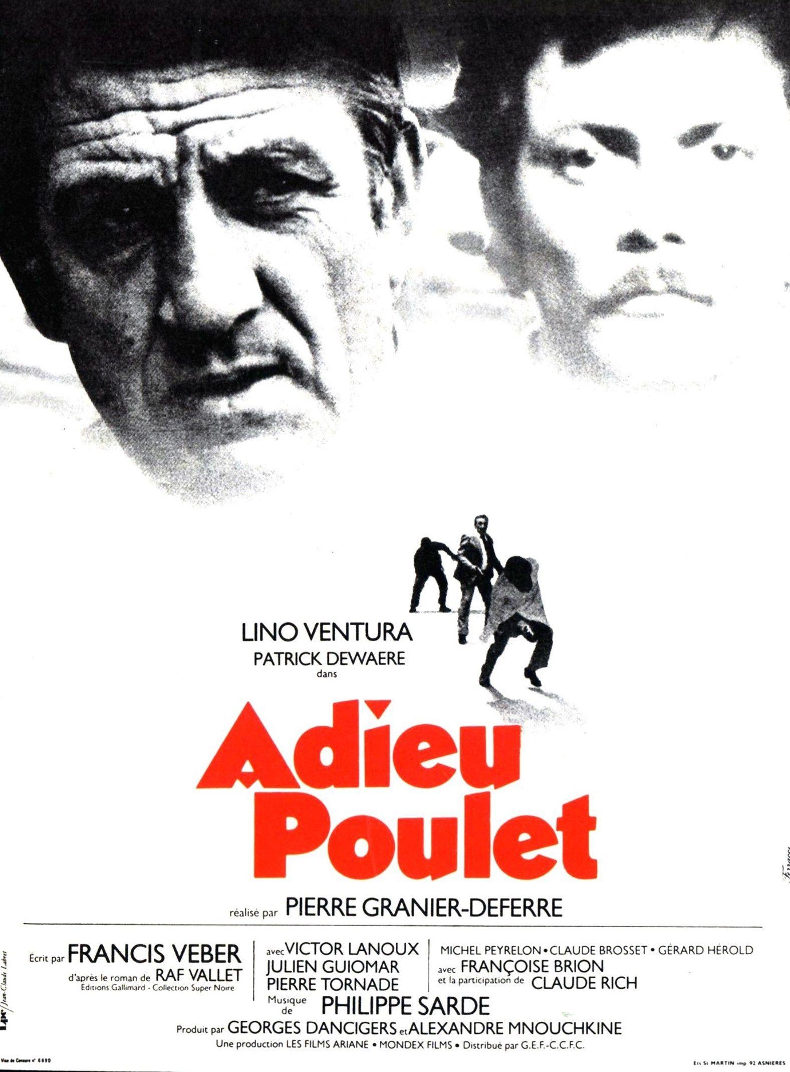 Adieu Poulet Pierre Granier Deferre Affiche Film Dewaere Cinema Francais