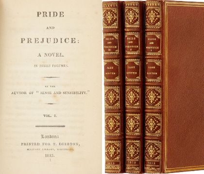 Image result for pride and prejudice jane austen first edition