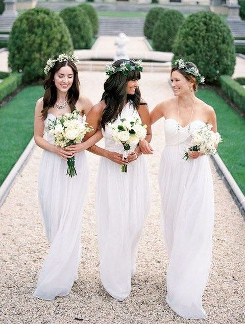 a0ed75eb2 40 Vestidos de Color Blanco para Damas de Honor - Bodas