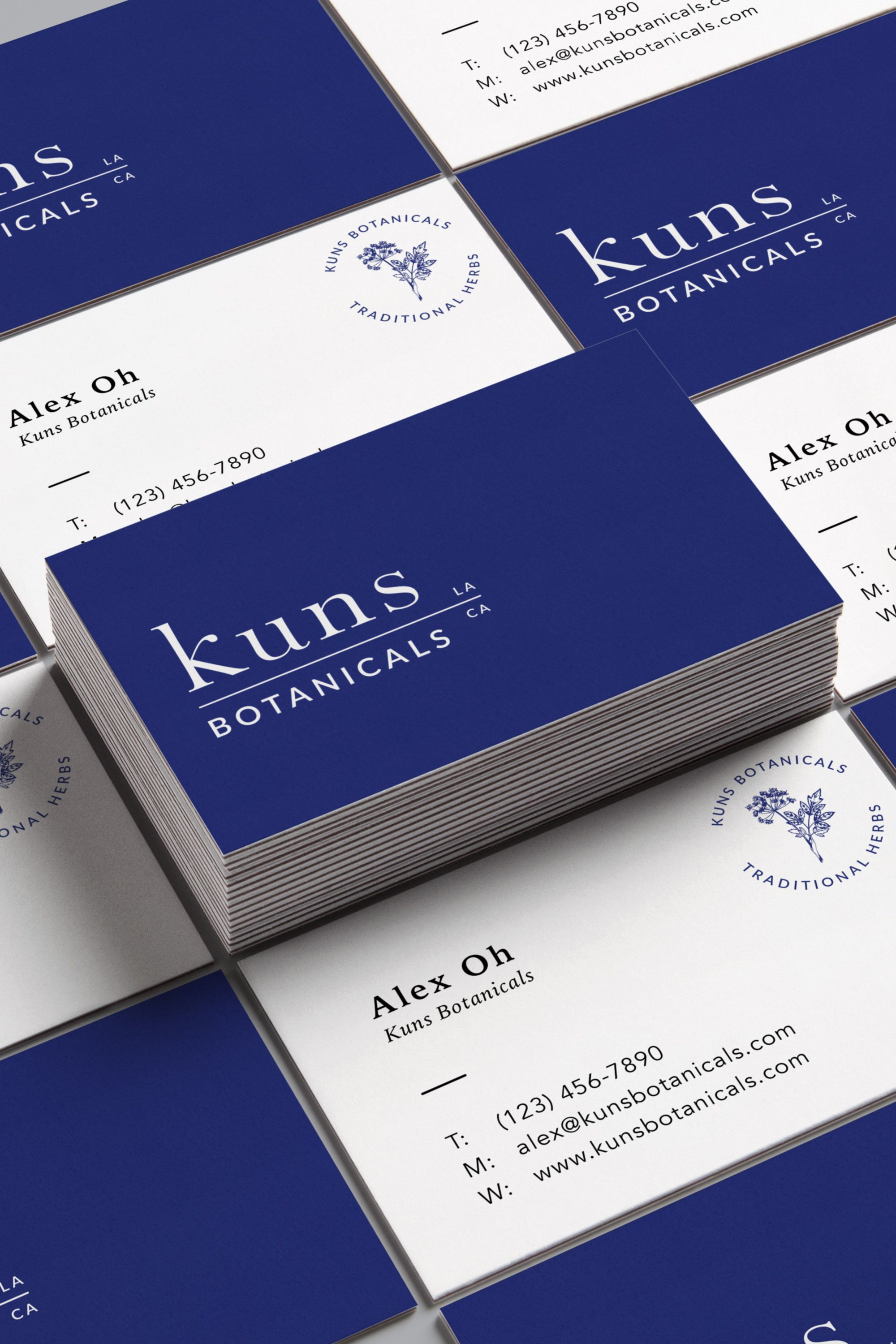 Branding For Kuns Botanicals In La California By Lagom Creative In Detroit Michigan A Holistic Skinc Name Card Design Visiting Cards Stunning Business Cards