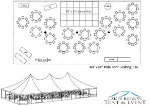 how to design a 40 foot x 80 foot wedding tent layout - Google Search  sc 1 st  Pinterest : 40 x 80 tent - memphite.com