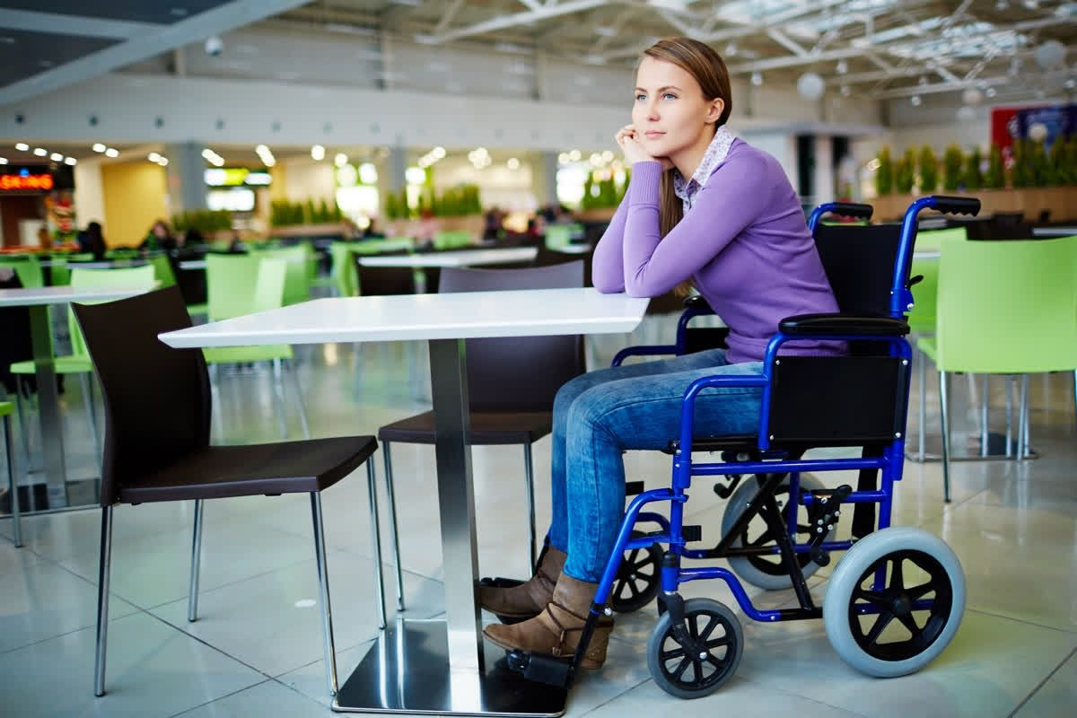 Image result for wheelchair in restaurant