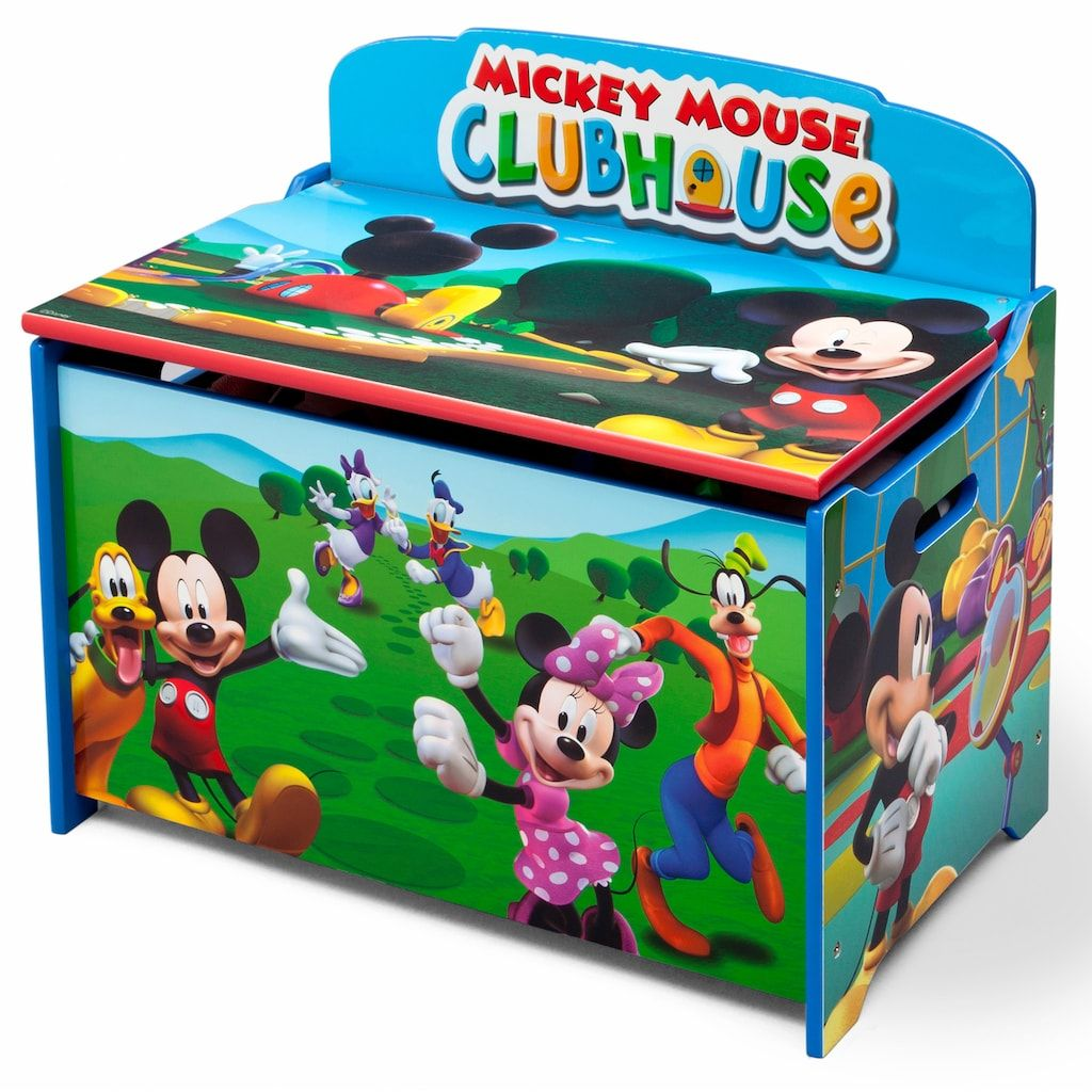 Disney S Mickey Mouse Deluxe Toy Box By Delta Children