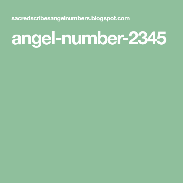 angel-number-2345 | Bible Studies | Angel numbers