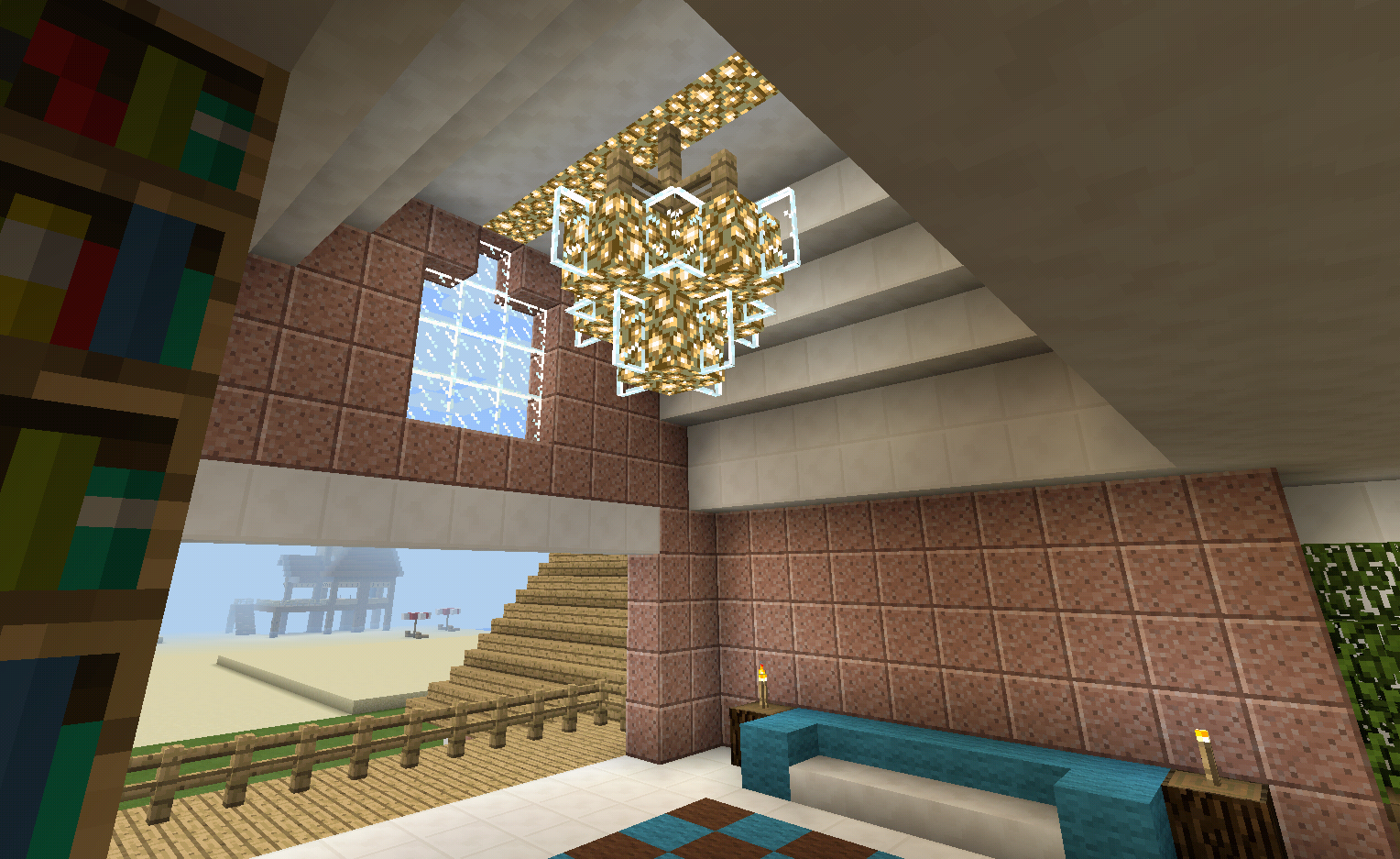 Minecraft chandelier lighting and balcony minecraft creations minecraft chandelier lighting and balcony aloadofball