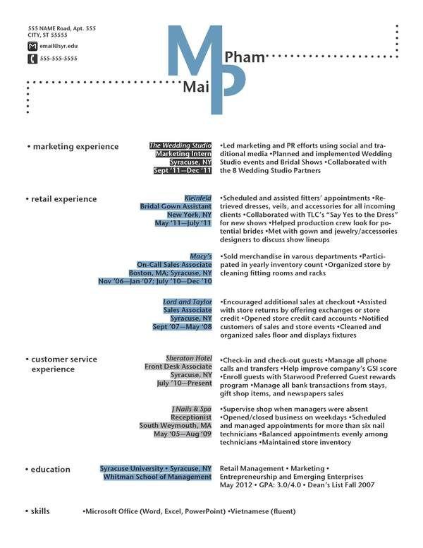 Resume Designs by Valentina Palladino, via Behance Career
