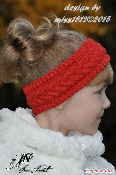 вязание | Вязание повязка на голову ободок | Повязка на ...