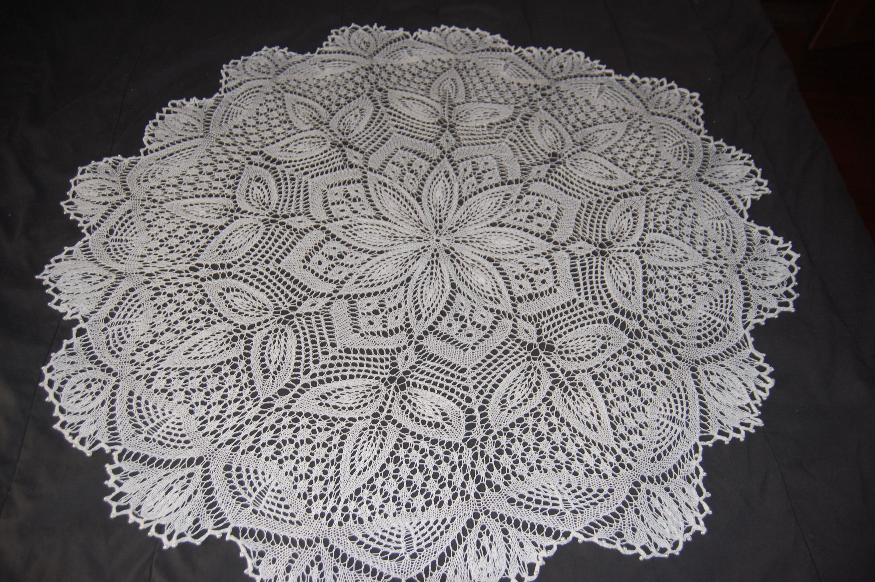Knitted doily - given to Katie | Things I\'ve made - | Pinterest ...