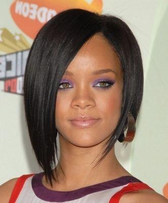 Attractive Asymmetrical Bob Haircuts Models Rihanna Hairstyles Haircuts For Fine Hair Asymmetrical Bob Haircuts