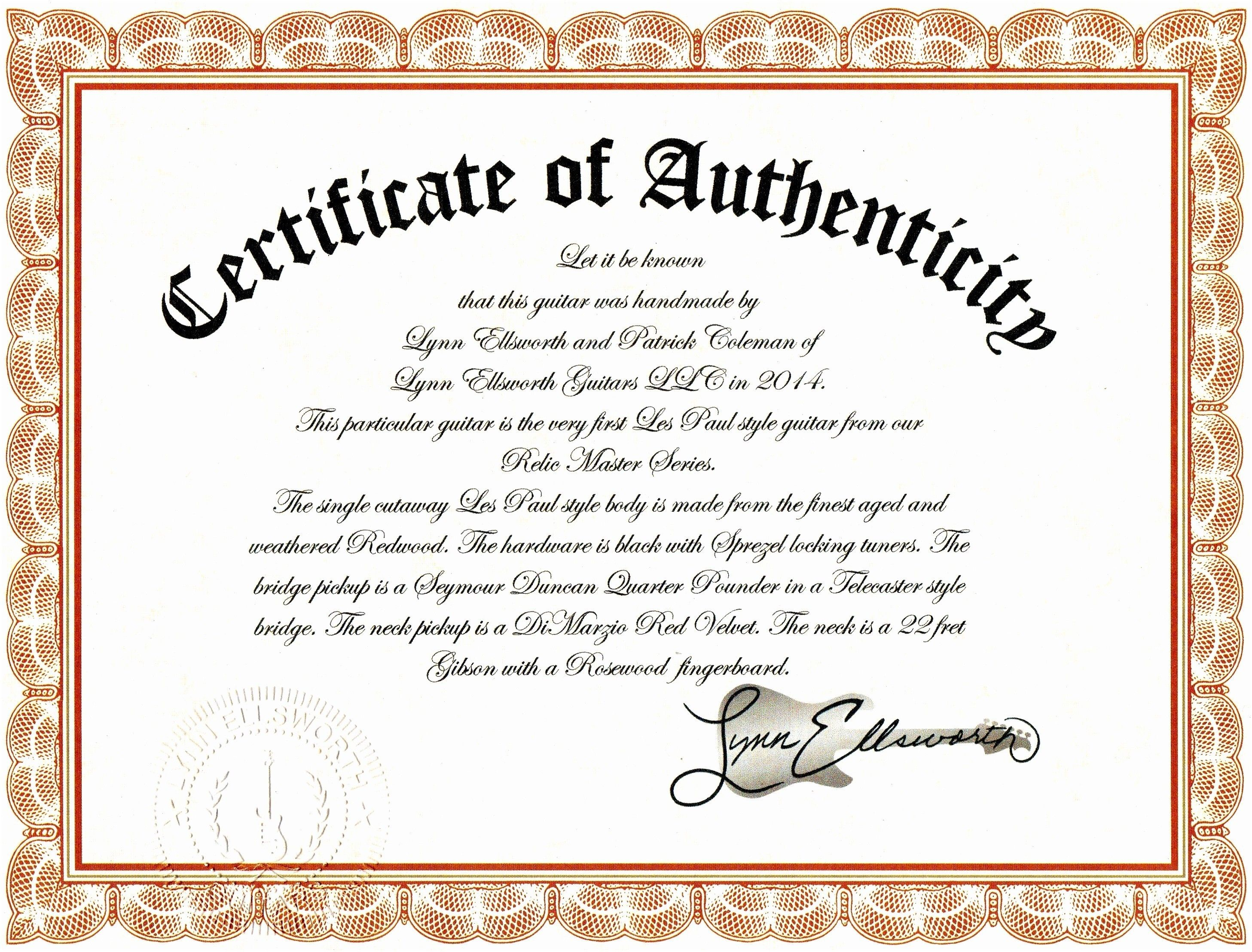 Sample Certificate Of Authenticity Photography Best Template Art Templates Refrence For