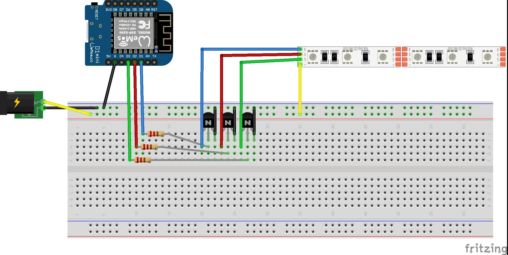 Homekit Philips Hue Clone With Standard Non Addressable Rgb Strip Led Circuit Arduino Use For Projects Here Is The First Accessory Our System Using An Esp8266 Convenience Im U
