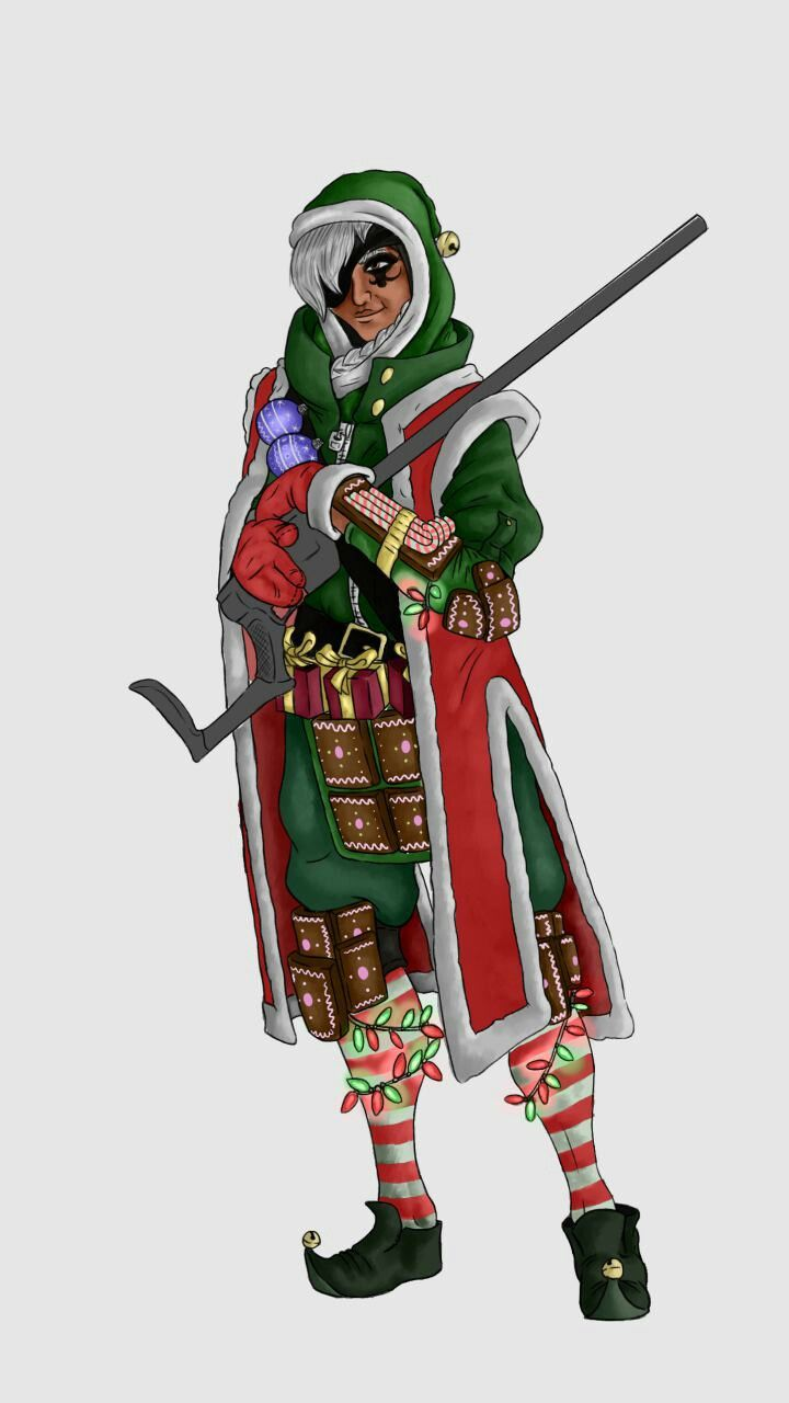 Ana - Overwatch Christmas Skin Concept | Game Design Student ...