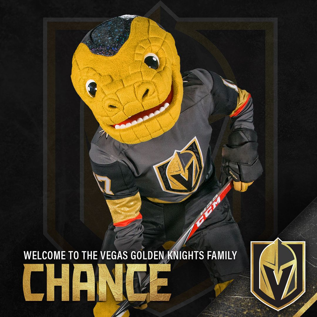4c3f549f0cb9 In an official mascot unveiling presented by GEICO, welcome VGK mascot  Chance the Golden Gila Monster!