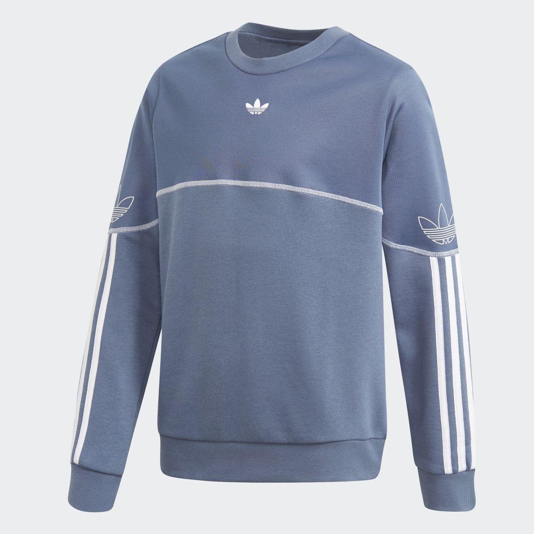 Sweat Shirt Outline With The Crew Sweatshirts Adidas Sweatshirt Long Sleeve Tshirt Men [ 1080 x 1080 Pixel ]