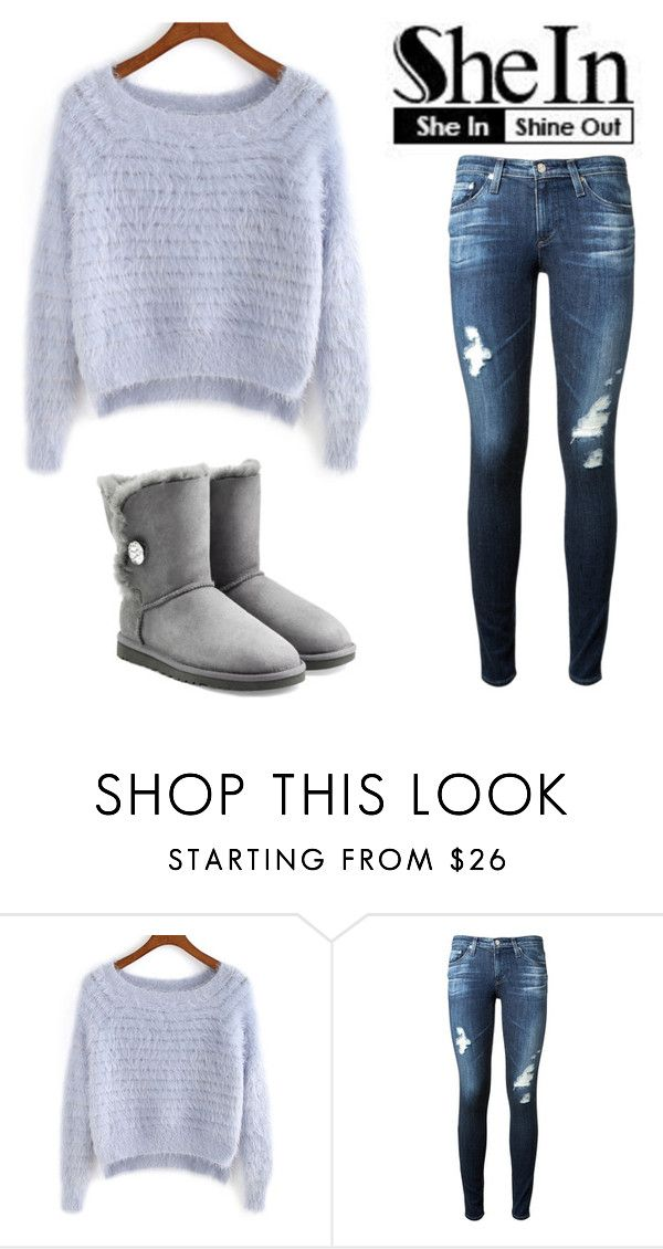 """Bez naslova #119"" by yesanastasia1919 ❤ liked on Polyvore featuring AG Adriano Goldschmied and UGG Australia"