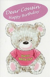 Birthday Cards Female Relation Cousin Dear Happy