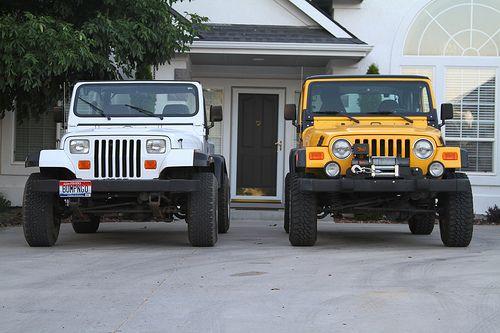Jeep Wrangler Tj Vs Yj Paro Wranglers Pinterest