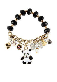 Betsey Johnson Panda Multi Charm Half Stretch Bracelet Belk Jewelry