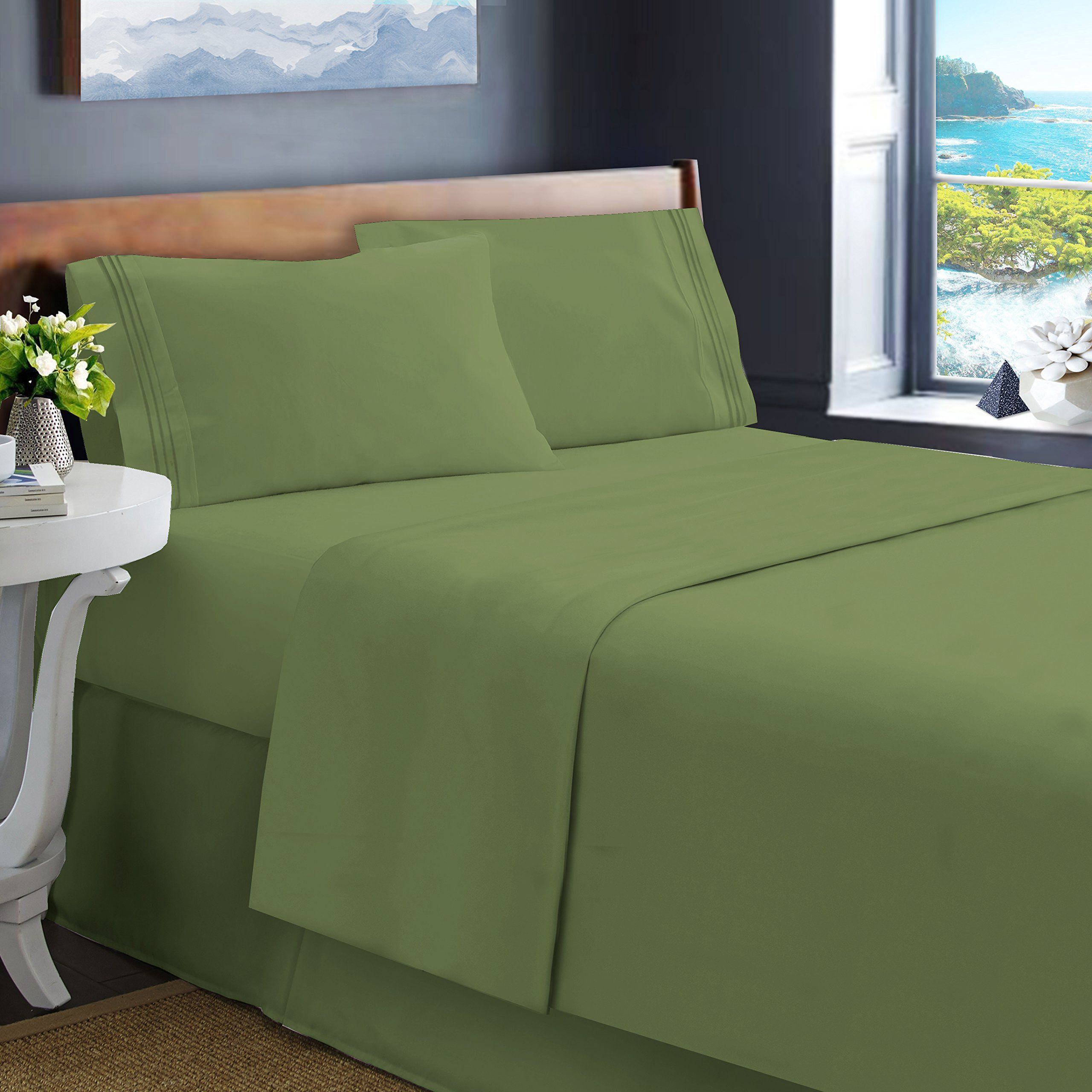 Harbor U0026 Hearth Size 4Piece Bed Sheet Set,   Best Quality Double Brushed  Microfiber Sheets