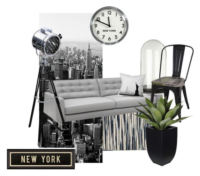 """""""New York"""" by home-inc ❤ liked on Polyvore featuring interior, interiors, interior design, home, home decor, interior decorating, Zara Home, 1Wall, Chateau d'Ax and Miss Etoile"""