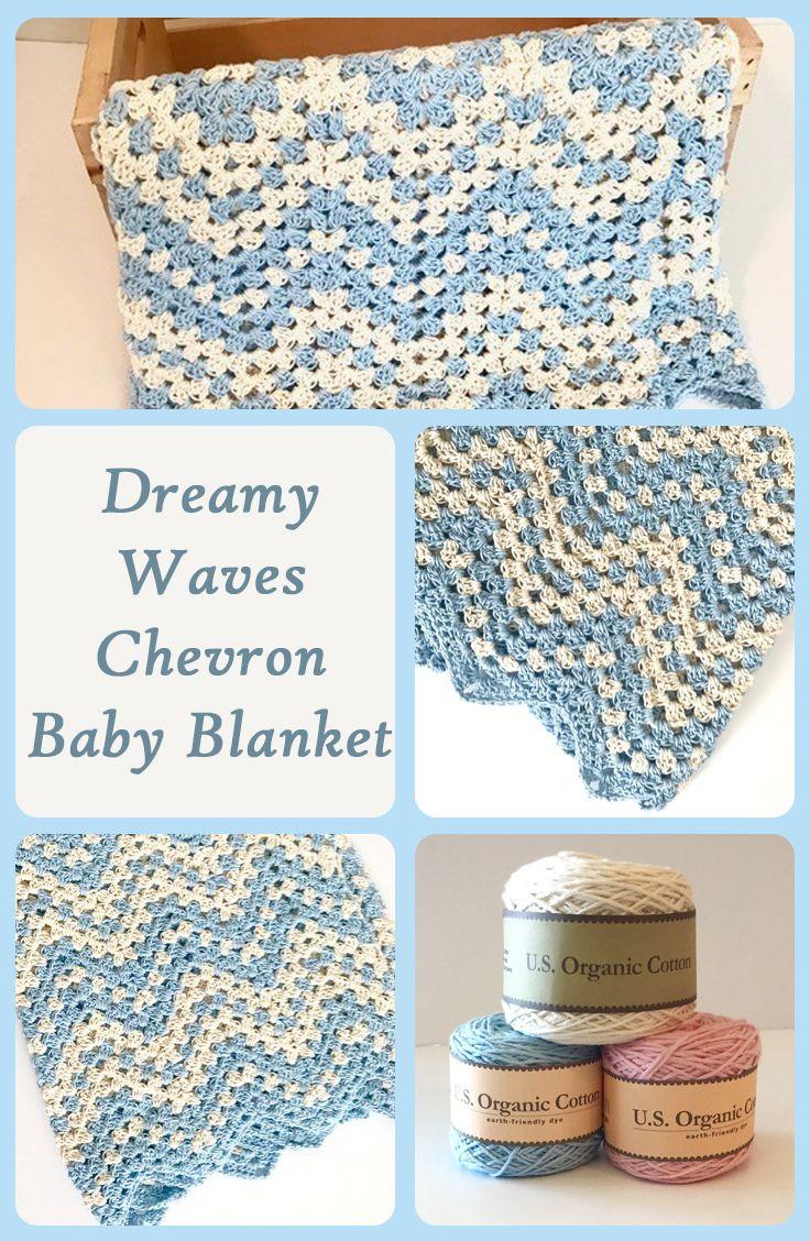 Dreamy Waves Chevron Baby Blanket Crochet Pattern | Pinterest ...