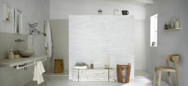 Badezimmer Mediterraner Stil Wandgestaltung