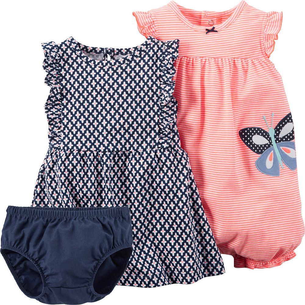 Kohls Baby Clothes Glamorous Baby Girl Carter's Dress & Romper Setkohls $15  Kiddies Review