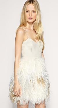 Asos Whistles Evangeline Feather Dress