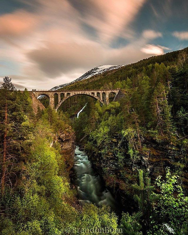 """Sun May 22th 2016  """"Dream Ride /// The famous Kylling Brua at sunset. (Aka Chicken Bridge). Don't know why it's called that but it sure is a beautiful spot in the Spring!  """" Location : Verma Møre og Romsdal Photo by   @brandonborn . Selected by @natassat Tag your best shots to #special_shots by special_shots"""