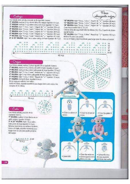 PATRONES GRATIS DE CROCHET: Patrón gratis a crochet del mono abraza ...