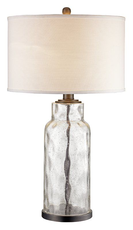 Maeline 29 Table Lamp Table Lamps Living Room Clear Glass Table Lamp Farmhouse Lamps